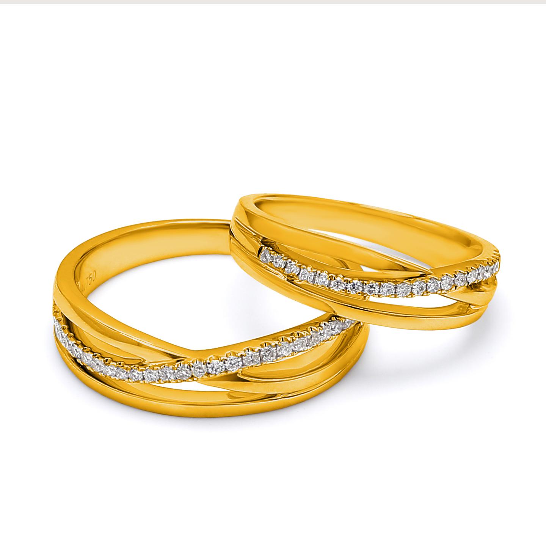 18K Yellow Gold Diana Diamond Wedding Band