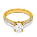 18K Yellow Gold Coeur Diamond Engagement Ring